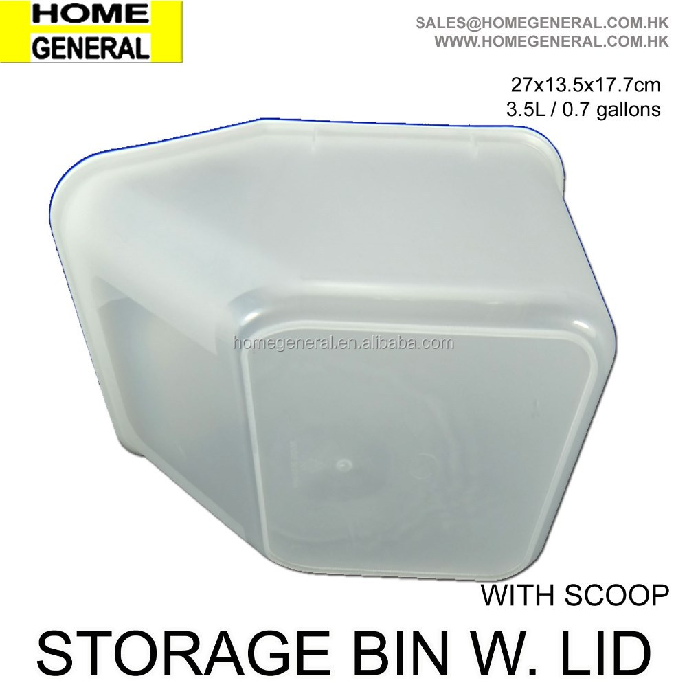 STORAGE GENERAL, PLASTIC STORAGE BIN WITH LID AND SCOOP, STORAGE BOX, FOOD CONTAINER, PET FOOD CONTAINER WITH SCOOP,HK