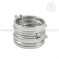 Jaipur Handmade Design 925 Sterling Silver Wholesale Jewelry Women Fashion Ring Indian Silver Jewelry Wholesaler