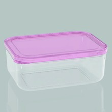 Top selling rplastic food storage container clear round food with divider L20403 PINK