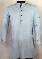 Mens Slim Fit Linen Kurta