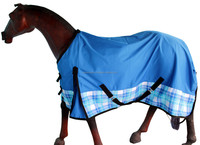 Hourse Turnout Rug 1200 Denier R.Blue /White ,Ice Blue ,R.Blue Chks