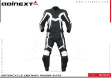 Motorbike Leather Suits, Custom Made Leather Suits Motorcycle Leather Racing Suits, Leather Racing Suits - Item No. AE01MC011
