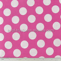 White color cotton Polka Dot Print Fabrics For Home Textiles