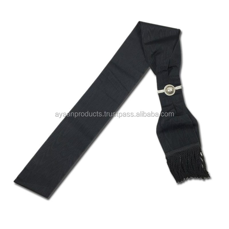 Masonic Knight Templar KT Black Sash High Quality