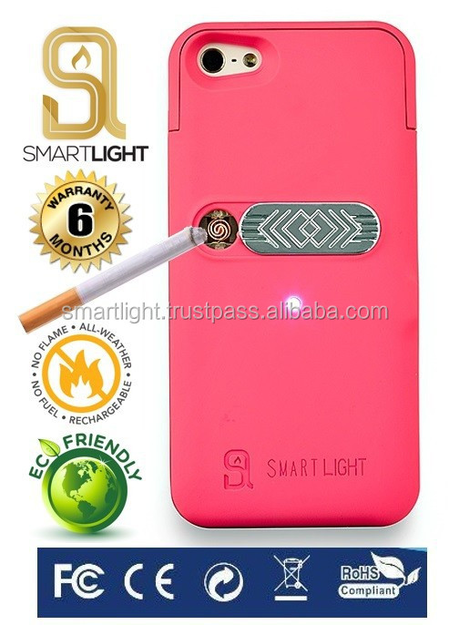 Hot new products for 2016 Fuchsia mobile phone lighter case for iPhone 4 4S