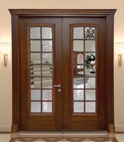 High Quality Glazed Solid Wooden Door