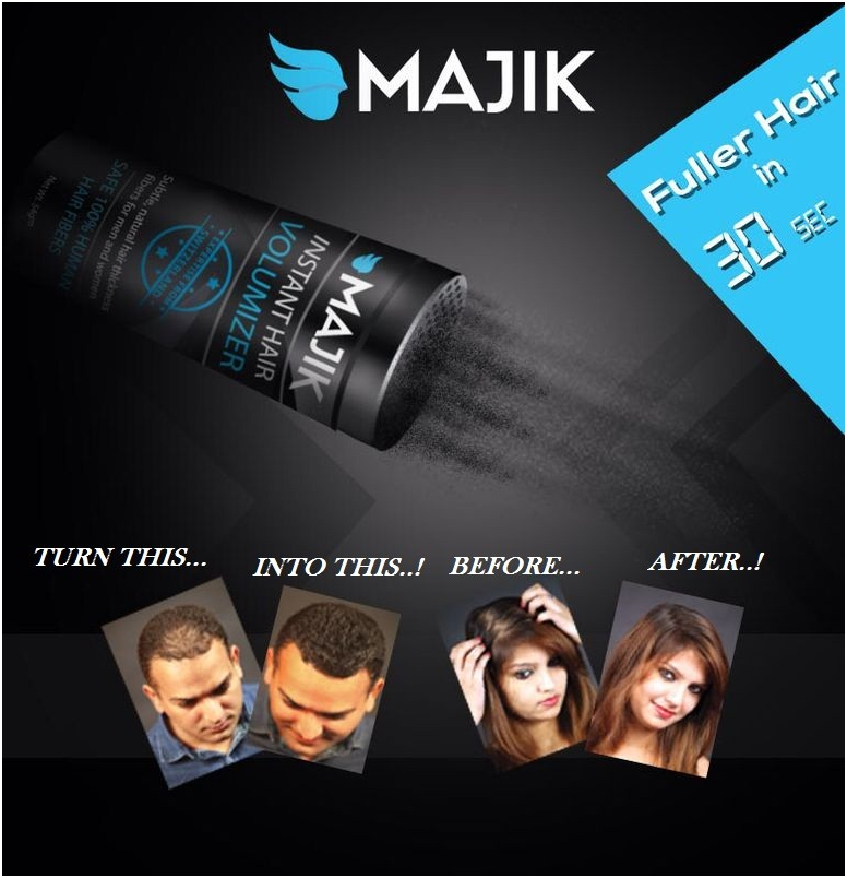 Majik Mini Hair Fiber Travel Size Small Natural Building Fibers Made From 100%Natural Hair