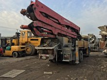 Used putzmeister 37m concrete pump truck spare parts second hand putzmeister isuzu chassis made in 2003