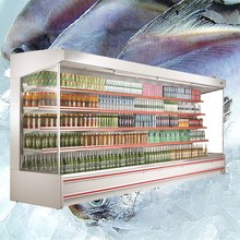 Remote Multideck Display Fridge , Large Open Deck Chillers For Supermarket from China