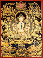 High Quality Chengrezi Tibetan Thankga Painting