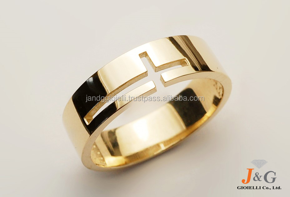 9K, 10K, 14K, 18K Yellow gold design jewelry ring in South Korea