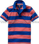 OEM service stand up yarn dyed collar men polo shirts wholesale china CVC printed t-shirt