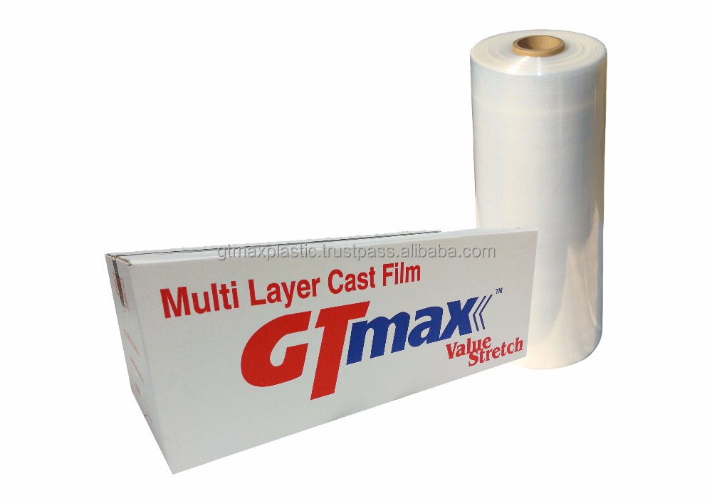 Stretch Films Machine Roll with Pre Stretch 100% 12Micron 12mm