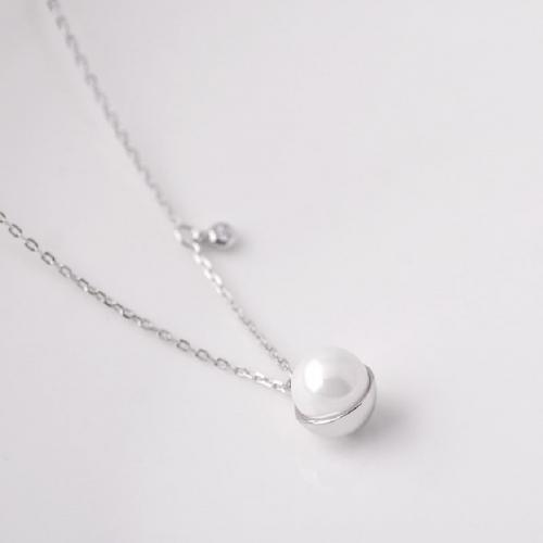 925 sterling silver single pearl pendant necklace