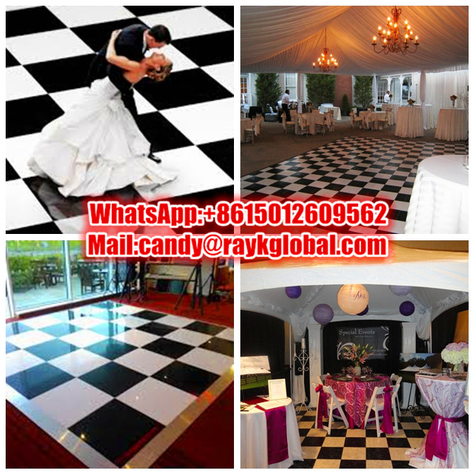 RK event flooring glass wedding tente dance floor aluminum portable stage