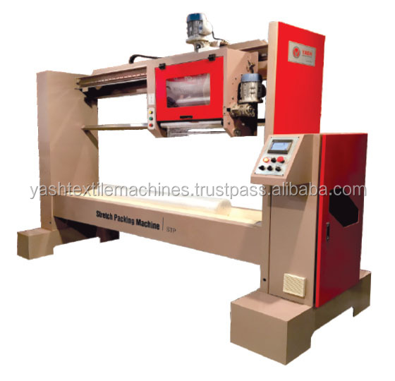Fabric Stretch Roll Packing Machine with Packing By Stretch Film