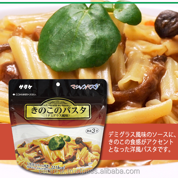 Japanese High-quality quick and easy Satake magic pasta for demi-glace sauce( brown sauce) with mushroom 100g