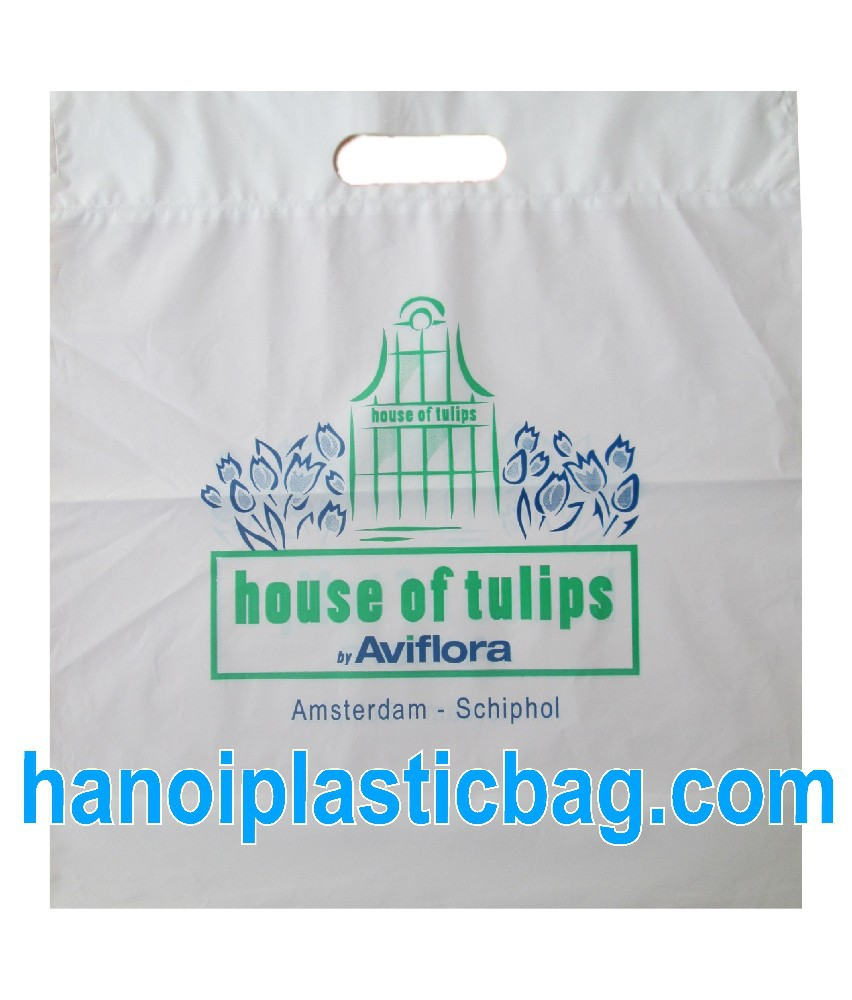 house of tulips PLASTIC DIE CUT BAG with top fold