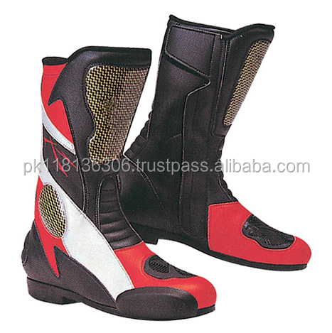 Waterproof Boots Black Motorcycle Road Bike Rider Shoe