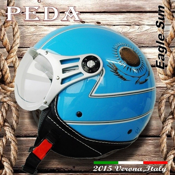 (Eagle Sun) 2017 NEW ECE open face motorcycle summer helmet CASCO vintage Italian design(PEDA MOTOR high quality)