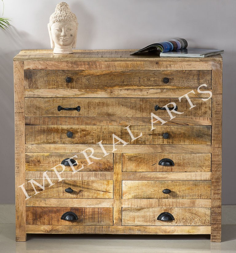 INDIAN MANGO WOOD DRAWER CHEST, FOR HOME FURNITURE
