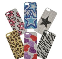 "4.75""X 2.4"" ASSORTED BLING STICKERS FOR IPHONE 5"