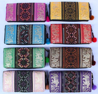 Handbags, ELEPHANT HMONG EMBROIDERED Wallets purses