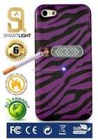 Purple Zebra case for Samsung S6 with ecological cigarette lighter