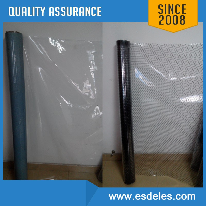 ESD PVC grid curtain with thickness 0.3 mm/0.5mm/1.0mm