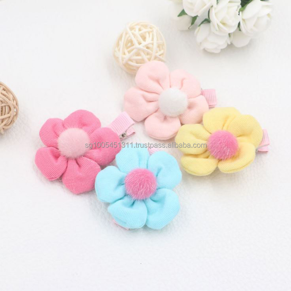 High Quality Fabric Flower Children Hair Clip (Also Hair Grip, Hair Tie, Hair Accessory)