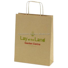 Tan Twisted Standup Paper Handle Bag