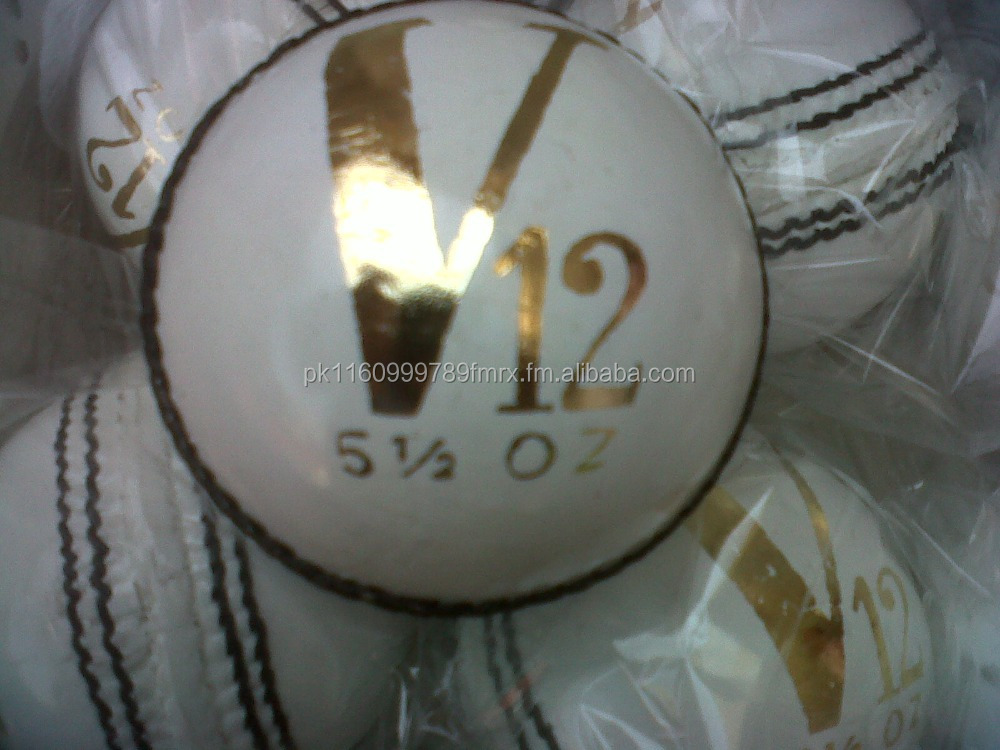 Leather Cricket Ball white