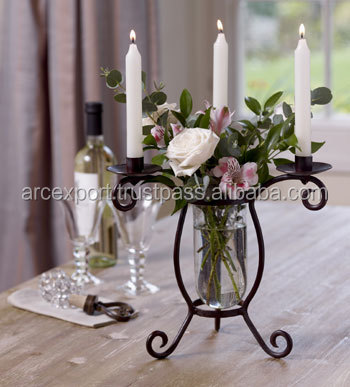unique fancy wedding glass flower small candle holder