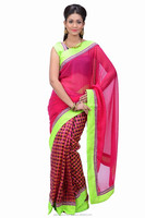 Indian saree with blouse stitching at Cheap prices