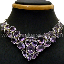 Personalized Collection Of Amethyst Silver Jewelry Necklace 925 Sterling Silver Jewelry Manufacture