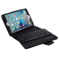 New Arrival Removeable Bluetooth Keyboard Leather Case for iPad Mini 4/3/2 - Black