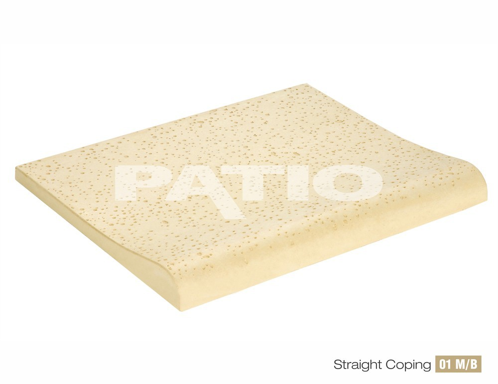 Patio Swimming pool straight coping athermic tiles