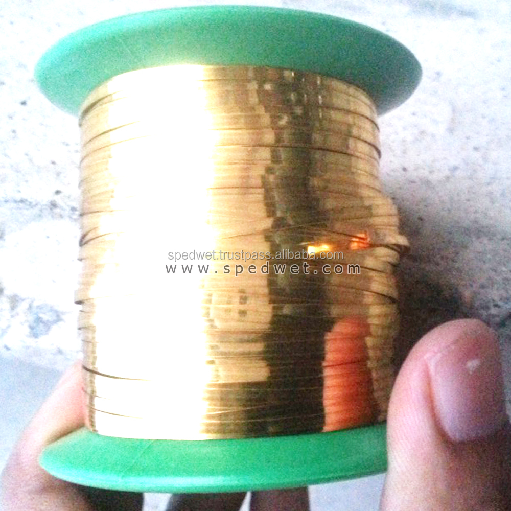 Wholesale factory price spanish flat wire gold golden color