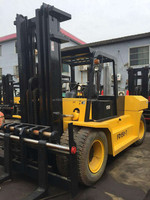 Used Japan Komatsu FD150 Side Shift Truck Forklift (15ton, Isuzu-Engine)