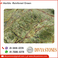 Polished Standard Rainforest Green Marble Slab Price