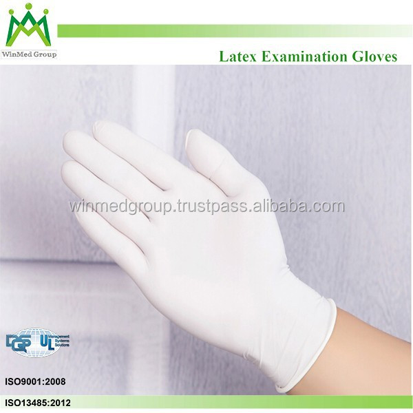 Customized designs logo for promotion accepted Latex Exam Gloves