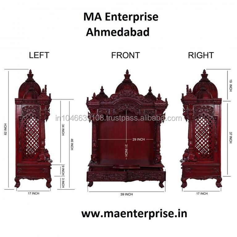 List Manufacturers of Wooden Temple Design For Home, Buy Wooden ...