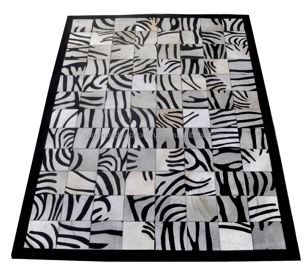 Hair-On Cowhide Leather Carpet