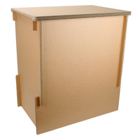 Reinforcement corrugated cardboard Display stand hacomo Corrugated cardboard furniture with made with paper made in Japan
