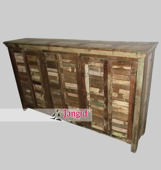 indian rustic reclaimed home dining room buffet manufacturer and exporter