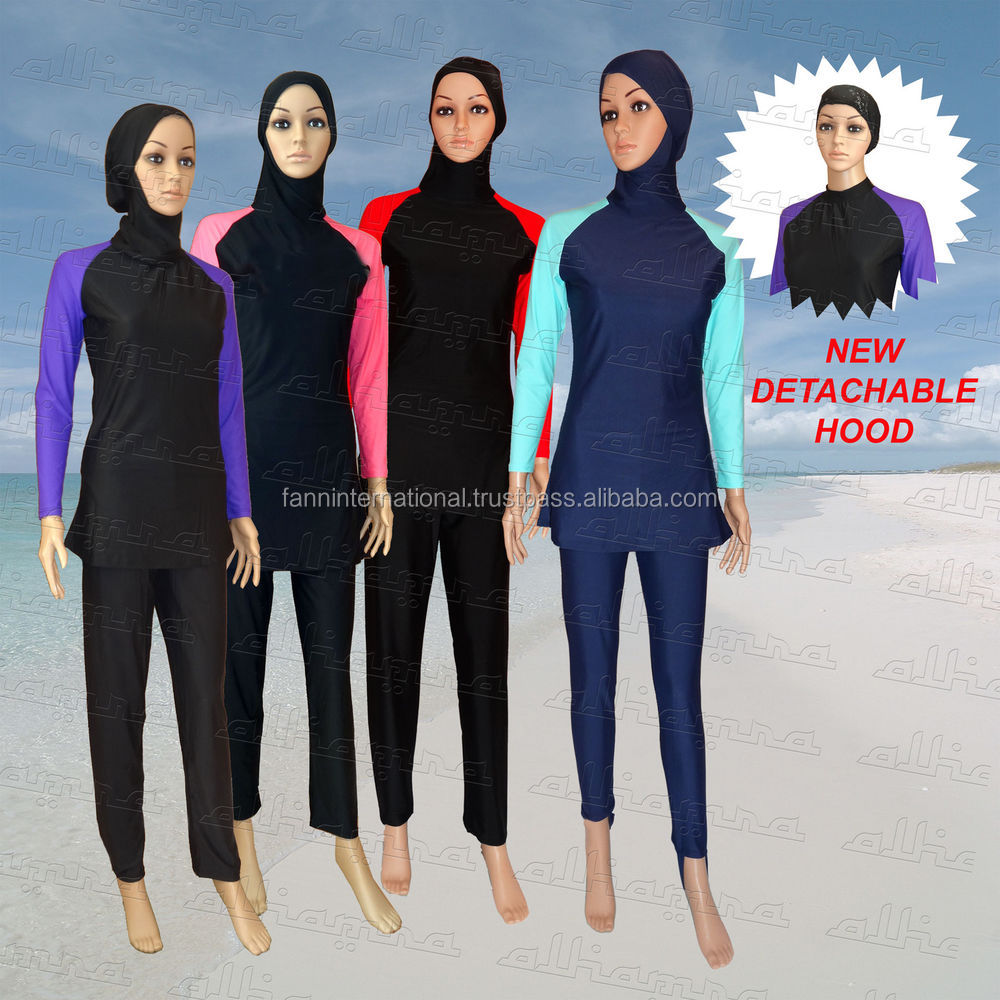 wholesale spandax ladies islamic swimwear muslim swimming suit