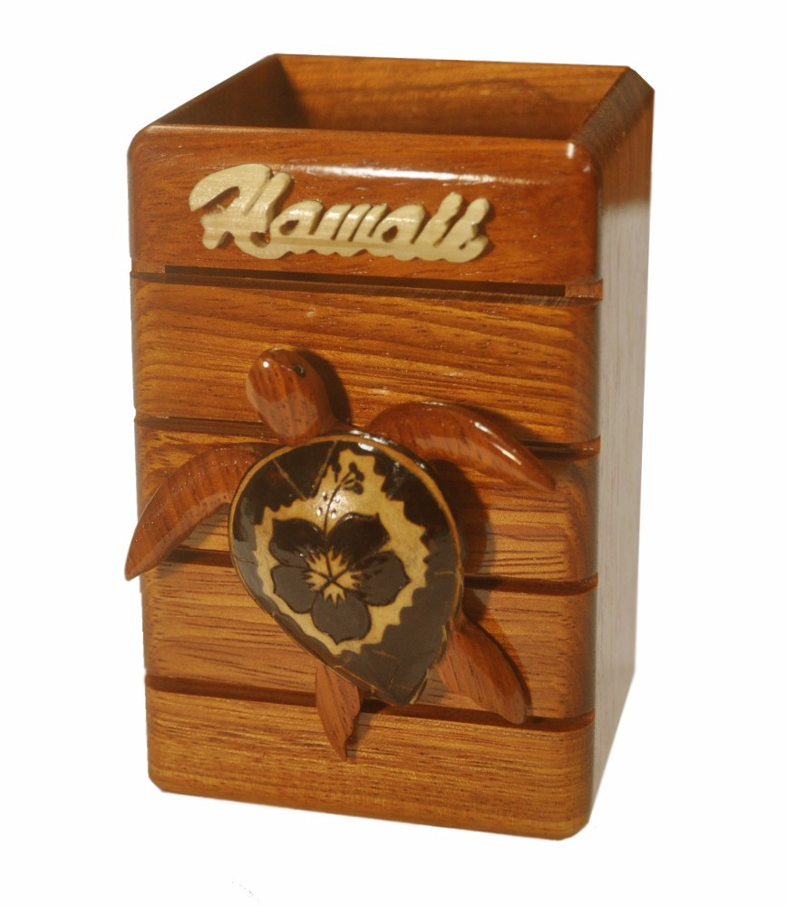 Hawaiian Wood Pencil Holder