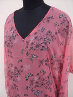 Kaftan & beachwear dresses for girls / beautiful world famous pink color printed kaftans for ladies