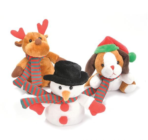 "5.5""-6"" CHRISTMAS PLUSH ANIMALS"