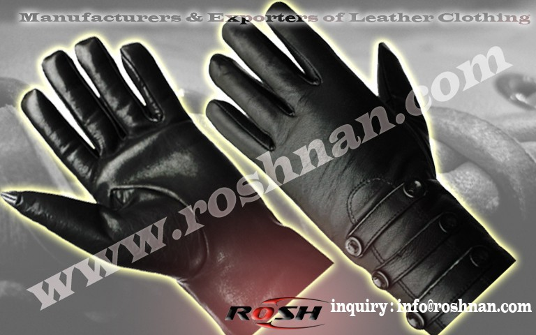 wholesales Black Leather fashion Glove Genuine leather gloves